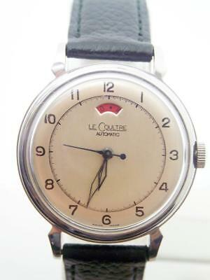 Vintage S/Steel JAEGER-LeCOULTRE Power Reserve Automatic Watch 1960s Cal 481