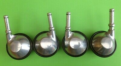 Set Of Four Castors For Philips Hostess Trolley In Very Good Condition