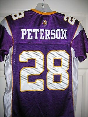 Reebok Nfl Minnesota Vikings  28 Adrian Peterson Purple Jersey Girls Small f10e2db05