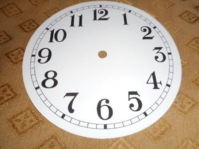 """Round Paper Clock Dial- 6 1/4"""" M/T - Arabic-GLOSS WHITE -Face/ Parts/Spares *"""