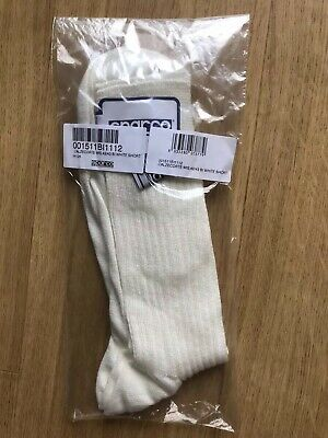 Sparco NEW Short Length White Racing Socks FIA 8856-2000 Size 42/43