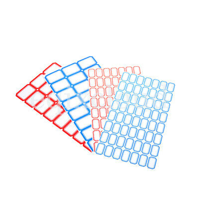 Lot Self Adhesive Sticky Blue/Red Label Stickers Blank Note Tags Name Craft