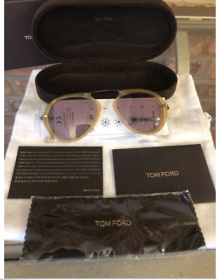 071339717e0c6 New Tom Ford Authentic Aaron Yellow Bronze TF473 39Y 53-17-145 Sunglasses   415