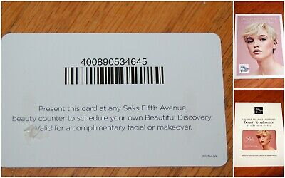 SAKS FIFTH AVE Promotional Gift Card Coupon for FREE Facial or Makeover!