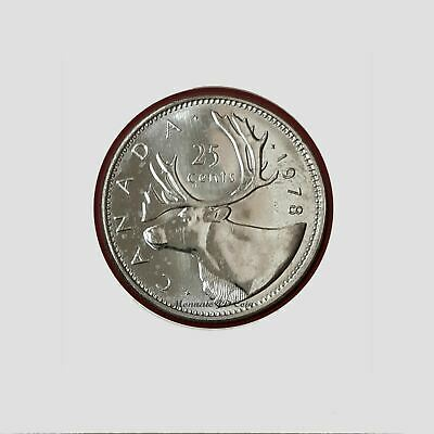 1978 Canada 25 Cent Larges Denticles Brillant Uncirculated #BC15