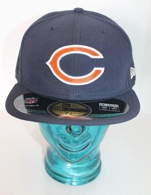 e791da74b49e37 New NFL Chicago Bears New Era C 59Fifty Men Cap Hat Football Blue 7 5/