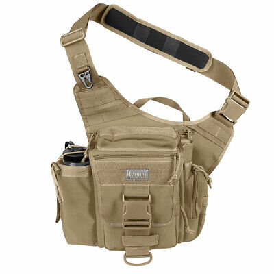 "Maxpedition 0412K Soft Khaki Jumbo Versipack 9""X8""X3"" Sling Side Gear Bag"