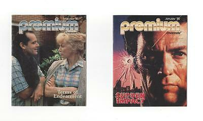 1985 TV GUIDES Premium Channels &Showtime,HBO,MOVIE CHANNEL.HOME THEATER NETWORK