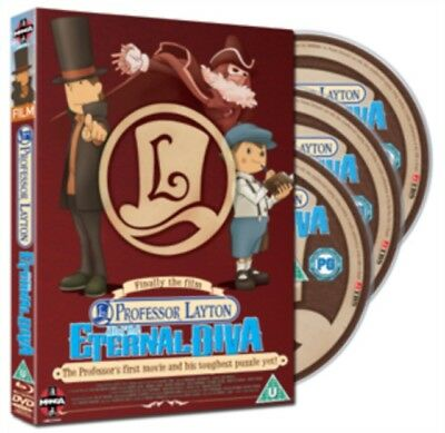 Professeur Layton And The Eternal Diva Édition Collector Blu-Ray + DVD Nouveau