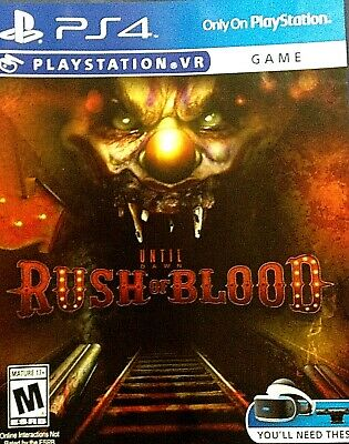 Until Dawn: Rush of Blood VR Horror Game PlayStation 4 2016 PS4 Virtual Reality