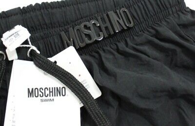 0290f1610a Moschino Metal Logo Swim Shorts Black - RRP £125. Brand New With Tags