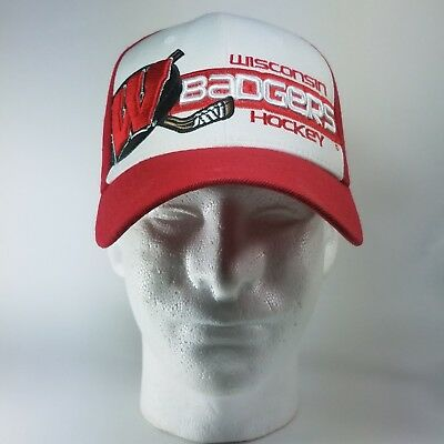 0ce1c59b UW Badgers Hockey Ball Cap Hat Zephyr Brand Size M/L ZFit Stretch OLCP  Wisconsin