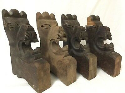 Antique Wooden Lion head Corbels