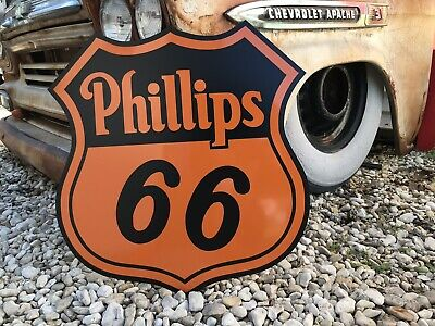 Antique Vintage Old Style Phillips 66 Badge Sign