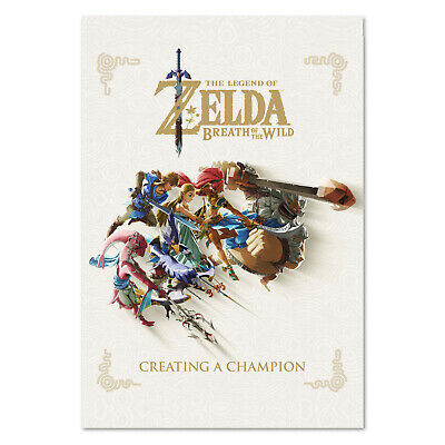 The Legend of Zelda: Breath of the Wild - Book Art Poster - High Quality Prints