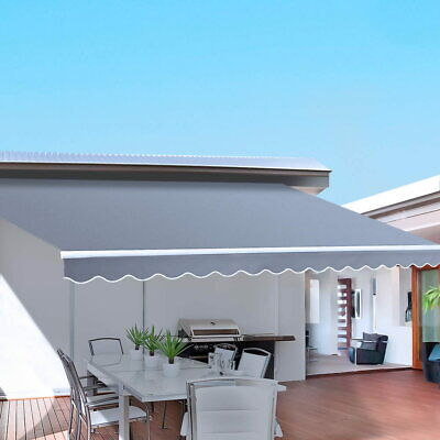 Retractable Folding Arm Awning Patio Sunshade Canopy Outdoor Cover Shelter Pegru