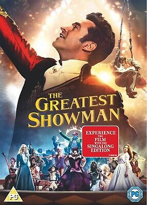 The Greatest Showman DVD Movie, 2017, plus Sing-along, Region 2, Fast post.