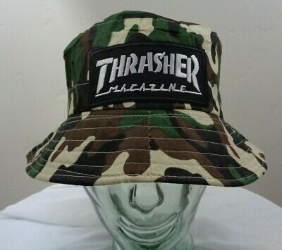 3c0ee22cbb3 thrasher magazine bucket hat outdoor fishing cap skateboard skater