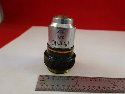 Microscope Pièce Objectif Olympus Plan 10x Optiques Tel Quel #Z4-a-16