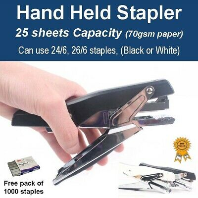 Heavy Duty Hand Held Personal Office Stapler 25 sheets CAP (Free 1000 staples)
