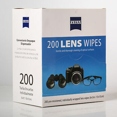 Zeiss Lens Cleaning 200 Wipes for Glasses Phone Screen Camera Lenses