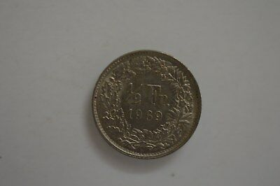1969 French Half Franc Coin