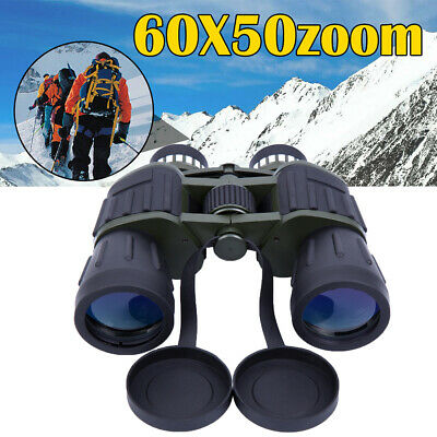 60x50 Zoom Day Night Vision Outdoor Travel HD Binoculars Hunting Telescope+ Case