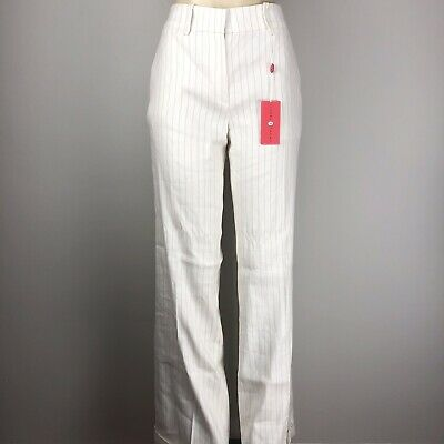 Ivanka Trump Flare Stripped Pants White/Blue Size 8 ITA50510 MSRP $165 NWT
