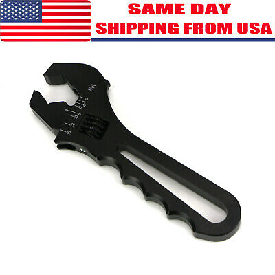 3AN-16AN Adjustable Wrench Black Aluminum Tool Spanner for Hose End Fitting