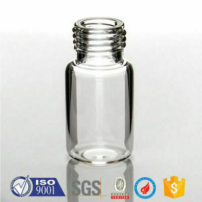 100pcs 10ml Vial Screw-18mm GC Reasearch Head-Space Sample Glass Round bottom