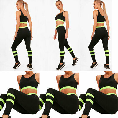 Women's Athletic Apparel Gym Clothes Sets Running Yoga Fitness Sports Suit