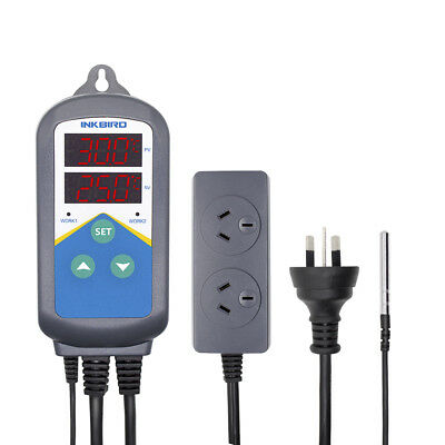 INKBIRD AU PLUG  ITC-306 Temperature Controller Timer  plug & play heating ONLY