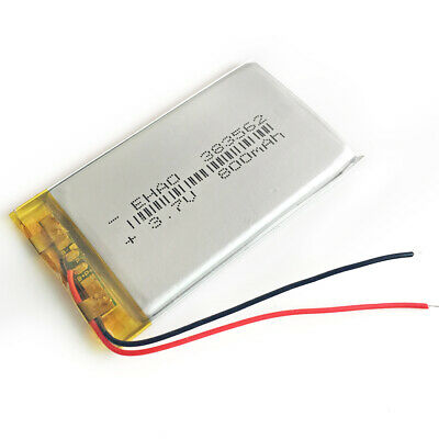 3.7V 800mAh lipo Polymer Rechargeable Battery For Mp3 GPS bluetooth DVD 383562