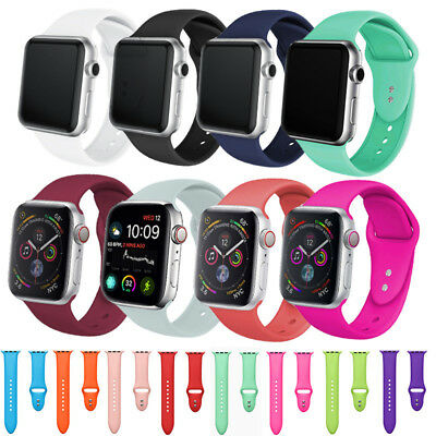 Silicona Recambio Pulsera  Apple Watch Serier 2 3 4 Colore Correa 38 40 42 44MM