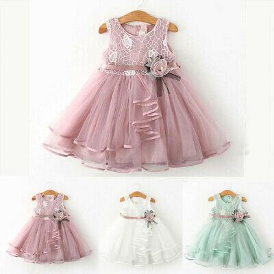 Pretty Toddler Kid Baby Girl Floral Dress Princess Party Prom Tulle Tutu Dresses