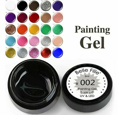 BF 25Colors 3D Nail Art Gel Polish Paint Draw Painting Gel Acrylic Color UV Tips
