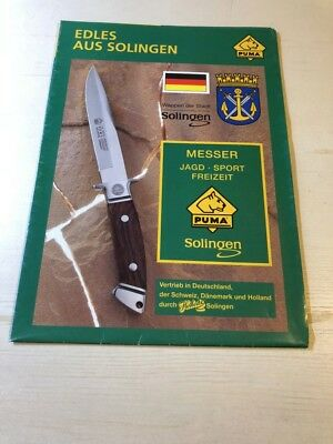 ORIGINAL PUMA KNIFE GERMANY CATALOG BROCHURE Glossy Paper Edles Aus SOLINGEN