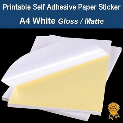 A4 Self Adhesive Paper Sticker Label Sheet Mailing Address Laser Inkjet Print