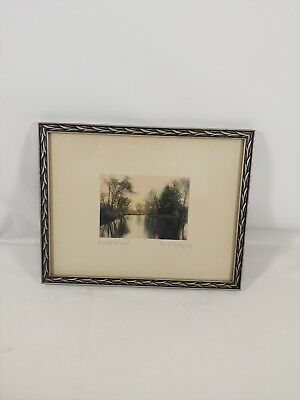 """Vintage """"Fall Shadows"""" by Fred Thompson Original Hand Colored PhotographArt"""
