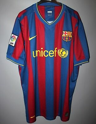 bacc1c01da7 Barcelona Spain 2009 2010 Home Football Shirt Jersey Maglia Nike Camiseta