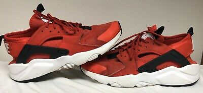b58533efe210e NIKE AIR HUARACHE SHOES ULTRA HABANERO RED SIZE 8.5 Men s Gently  Used