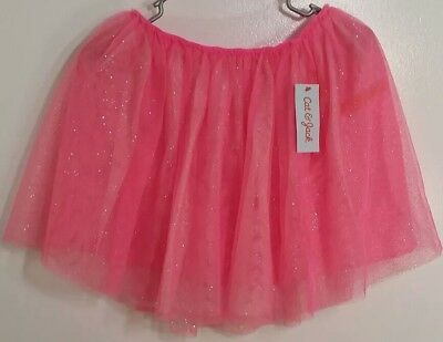 529a110e2f Cat & Jack Girls Tulle Tutu Skirt Sparkly Dazzle Pink Sz XL 14/16 NEW