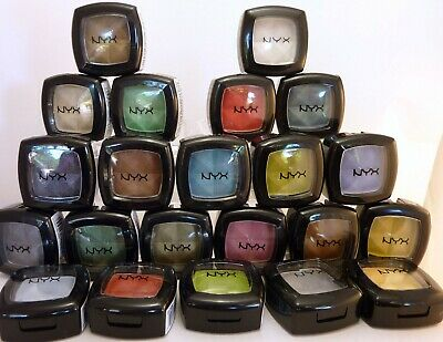NYX  eyeshadow pots x 22  blue green gold navy good range new