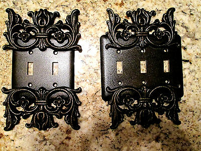 Double, Triple, Light Switch Plate, Cover, Old World, Tuscan, Medieval, Fleur