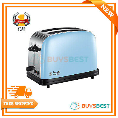 Russell Hobbs Colours Plus 2-Slice Toaster 1200 W In Heavenly Blue - 23335