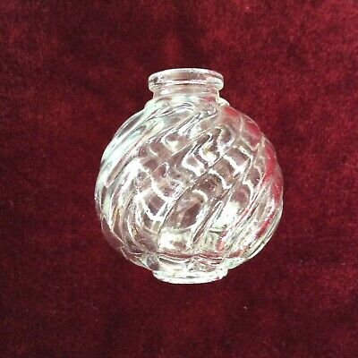 Vintage Crystal Chandelier Glass Ball Spare Part Czech 70s Lighting Pendant