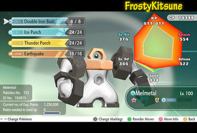 6IV Shiny Melmetal / Meltan Pokemon Let's Go Strategy Guide [LGPE]