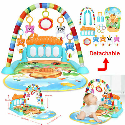 3 in1 Fitness Baby Gym Play Mat Music And Lights Fun Piano Small Various Colours