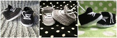 Baby Crochet Shoes AU Handmade Knitted Booties 0-3, 3-6 & 6-12 months