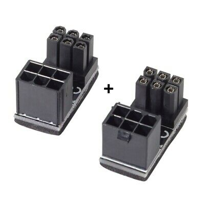 ATX 6Pin Female to Male 180 Degree Power Adapter for Desktops Graphics Card EW